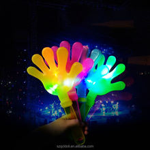 Hot Selling Custom Print Hand Clappers With Led Flash Light Promotional Led Fan Clapper To Cheering