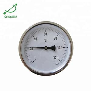 Europe type hot water bimetallic custom bimetal thermometer