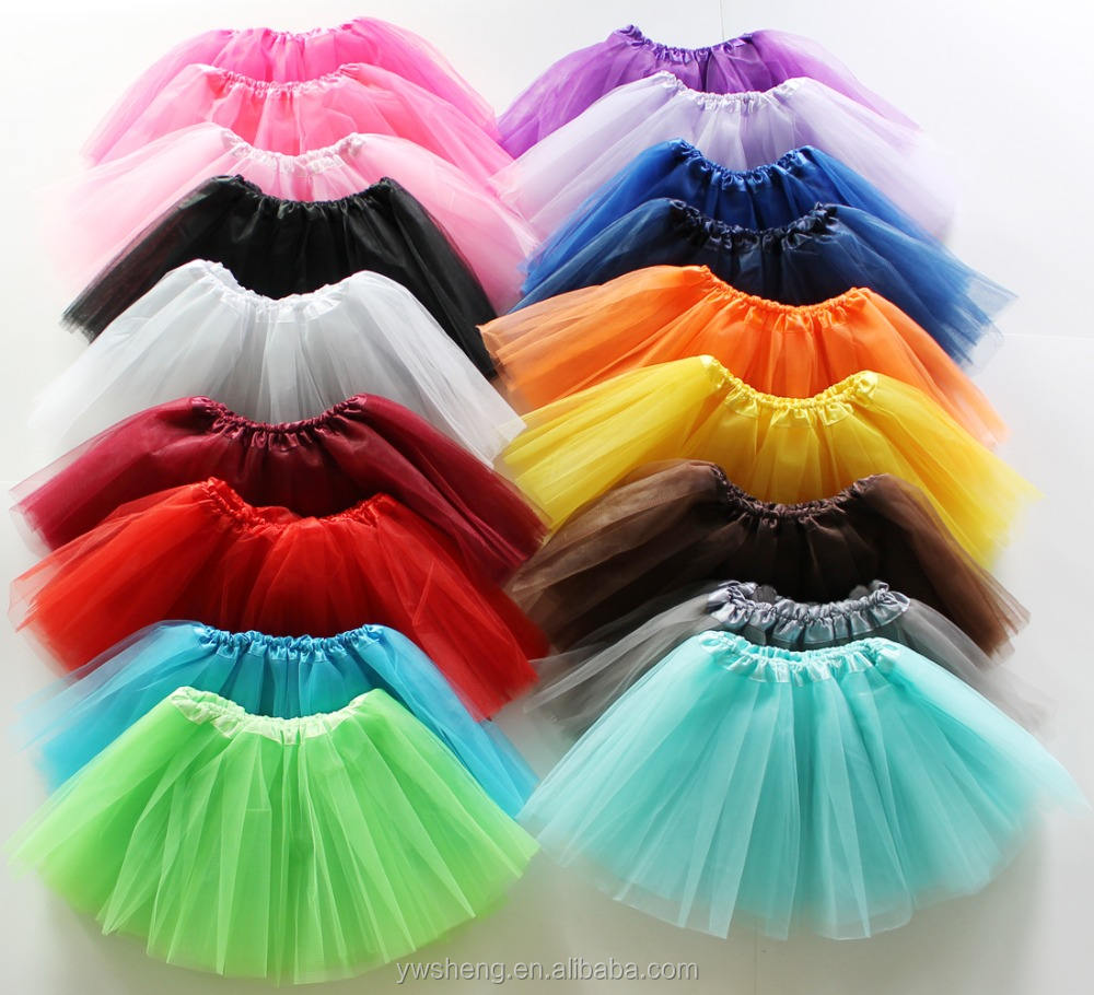 2019 Wholesale Newborn Infant Baby Girl professional 3 Layers kids Dance Tutu Tulle Skirt