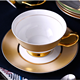 220ML Fine Bone China Coffee Cup And Saucer with gold rim Ceramic Tea Cups Sets