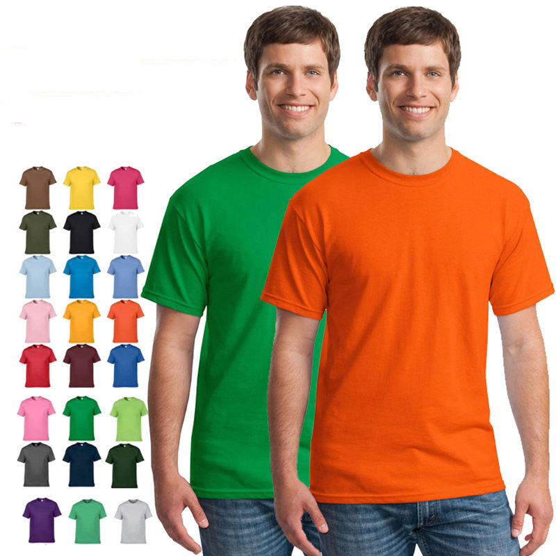 High quality 100% cotton American size o-neck men's oem logo plain blank t shirt t-shirt tshirts wholesale