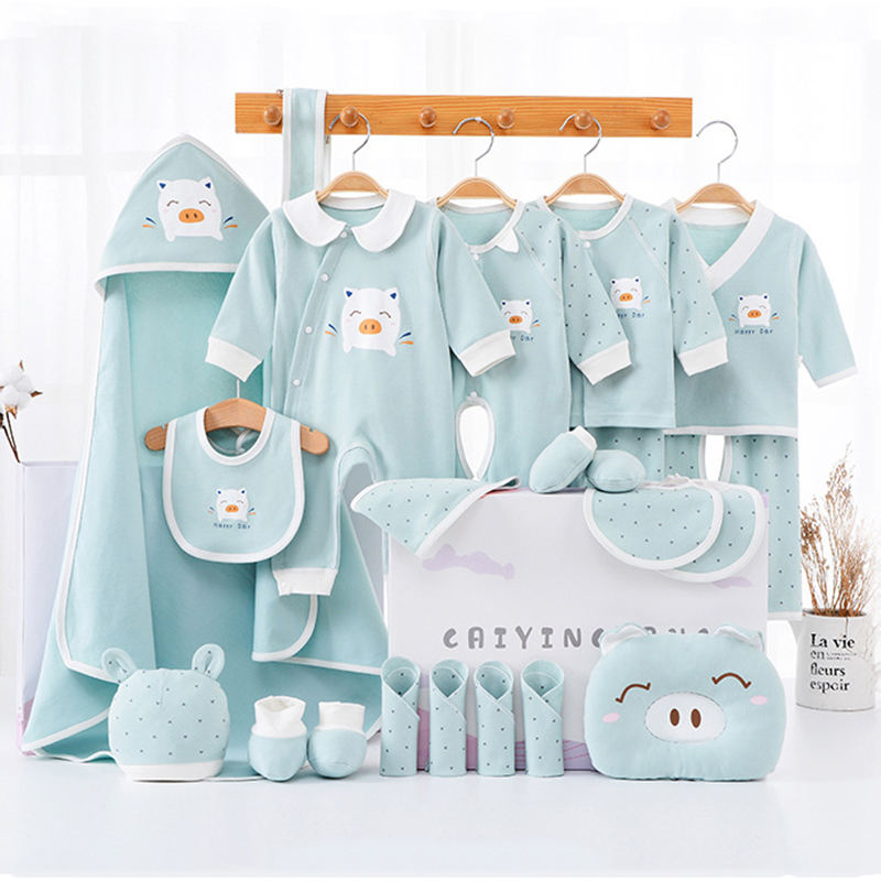 China manufacturer 100% cotton newborn gift box clothes 22pcs infant baby clothing set for 0-12 months