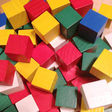 Learning Resources Wooden Color Cubes Craft Wood Blocks 20mm wood cube