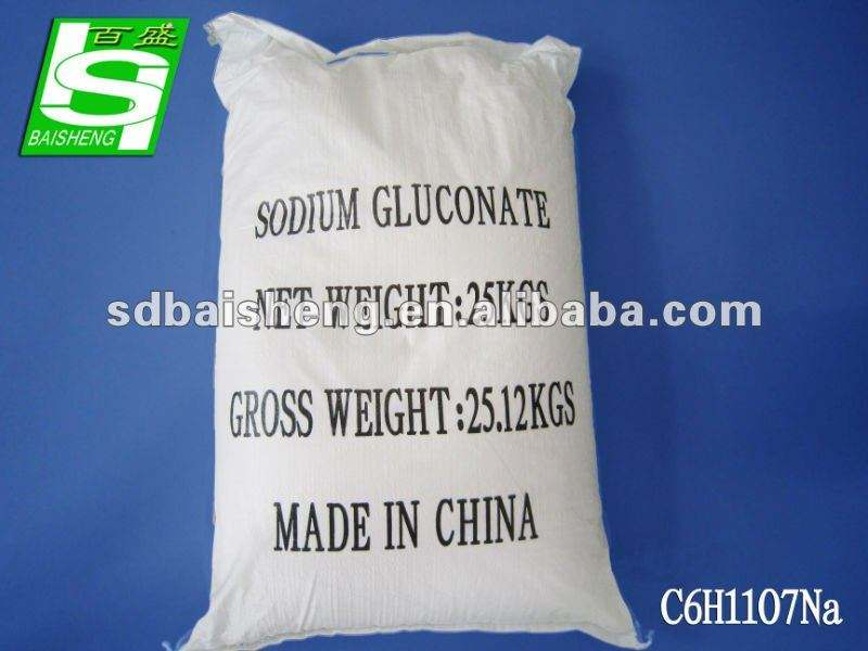 Best quality of Sodium gluconate used as glass bottle washing chemical