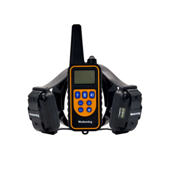 Wodondog L880-2 rechargeable waterproof IP67 dog training collars with 800m remote for 2 dogs