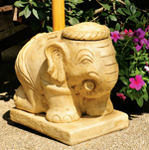 Cast Stone Garden Umbrella Stand