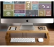 Wooden Bamboo desk organizer iMac laptop Monitor Stand Riser