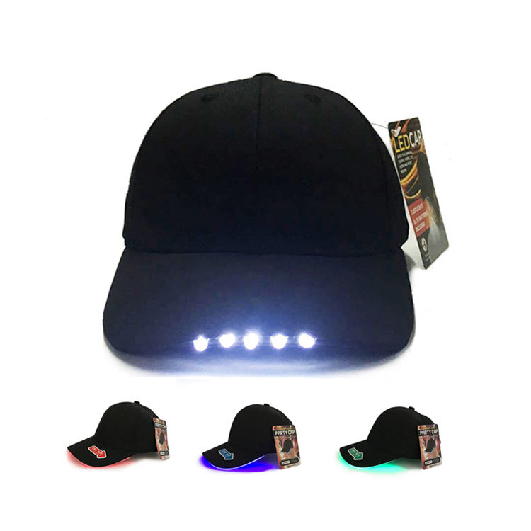 Cheap Custom Fashion Led Hat Hard Hat With Led Light LED Baseball Cap