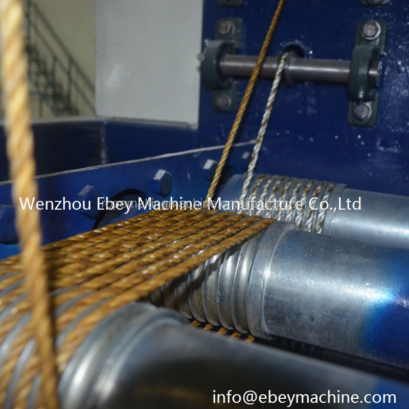 Layer Coating Spool 3 Cable Bow Rope Dual Strander Machine