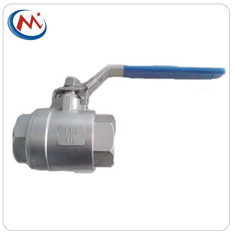 stainless steel 2pc screwed ball valve