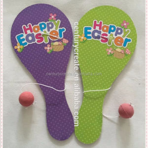Kinder tier cartoon Holz elastische Paddle ball spiel