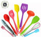 China Top Ten Selling Products Heat Resistant Kitchen Tools Multicolor Food Grade Silicone Cooking Utensil Set
