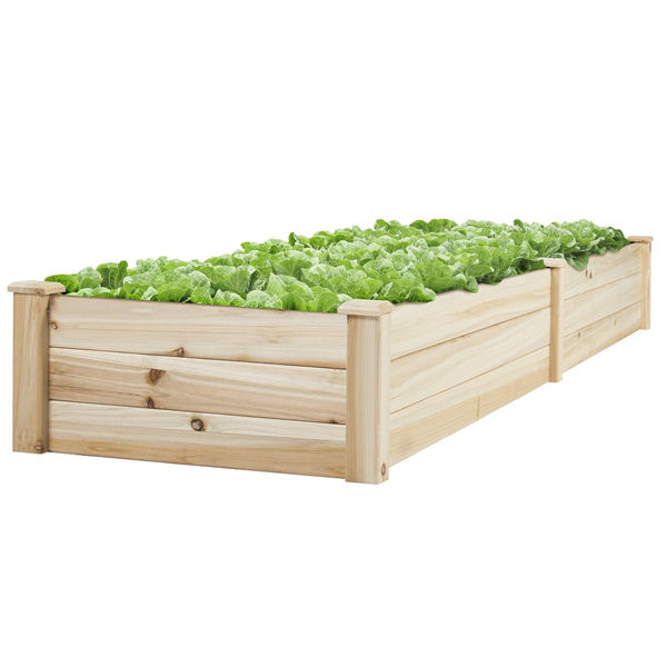 Best Choice Vegetable Raised Garden Bed Patio Backyard Grow Flowers Elevated Planter