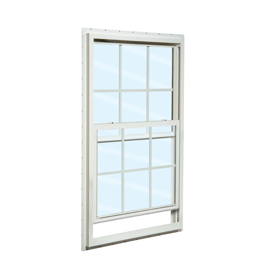 Double Tempered Clear Glass UPVC Reception Window PVC Single Hung Window