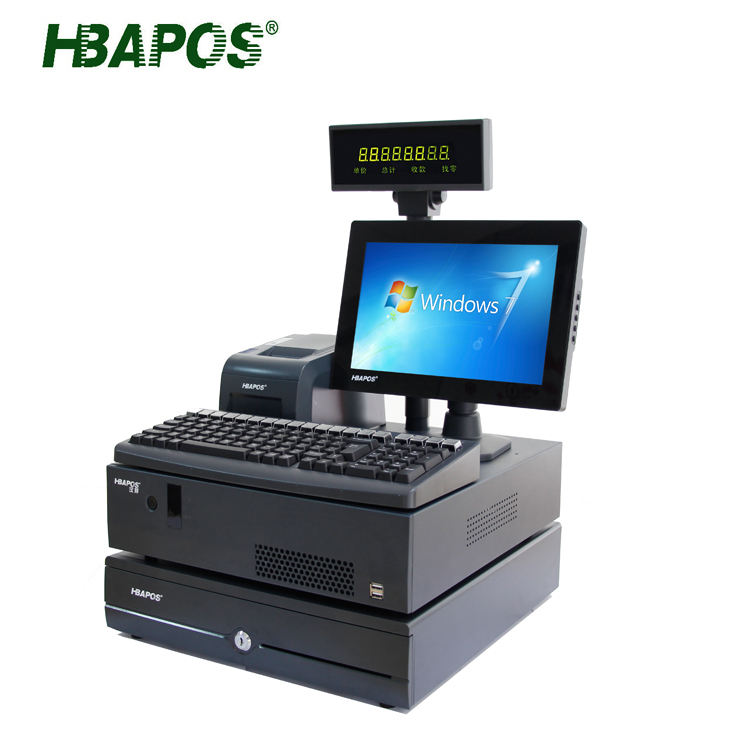 Touch screen pos system/점원 machine/china pos 소매 HBA-A8