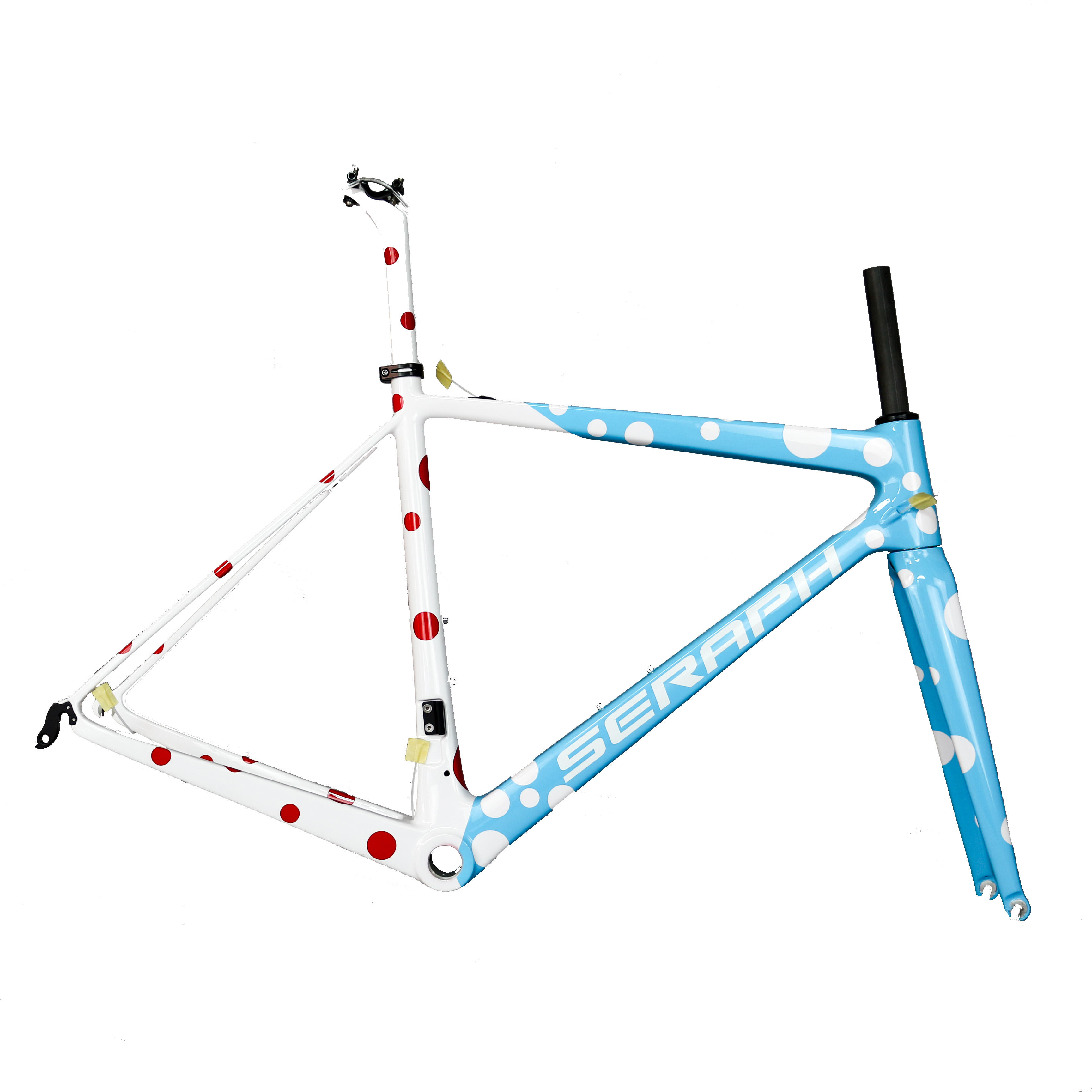 Seraph carbon fiber toray t800 bicycle frame blue and white joint paint road bike frame fm686 accept customized design