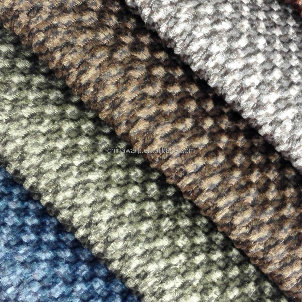 Popüler kanepe döşemelik kumaş tasarımı 100% polyester ve pamuk flok kadife kanepe kumaş