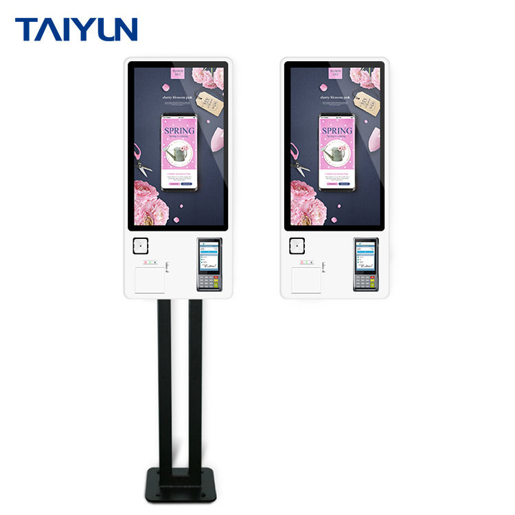 24'' Windows OS restaurant self service interactive touch screen ordering payment kiosk terminal