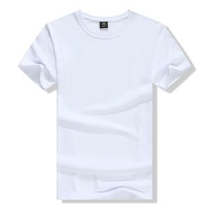 Custom Round 넥 100% Organic Cotton Short Sleeve Plain White t Shirt