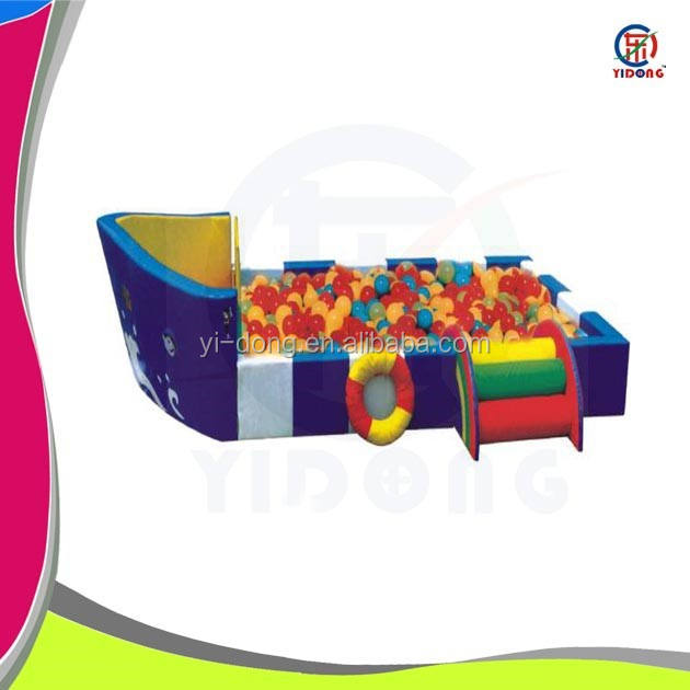 Colorful ocean ball poll soft play equipment with ladder