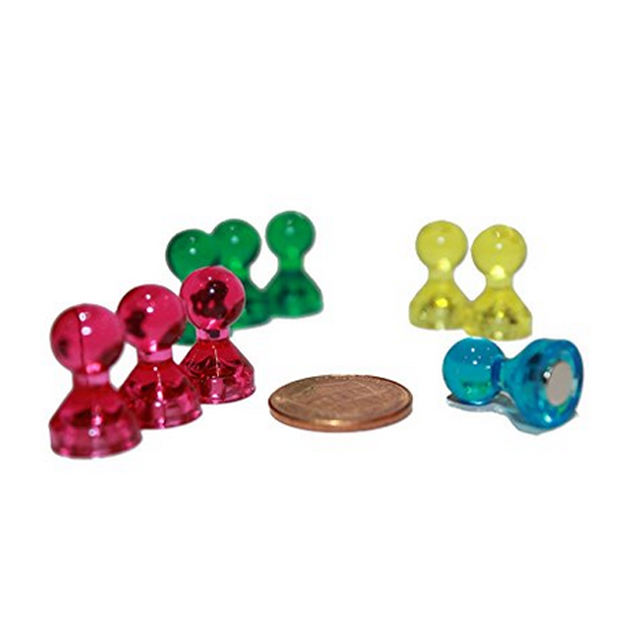 Magnetic Pins Pawn Style/push pin pawn magnet
