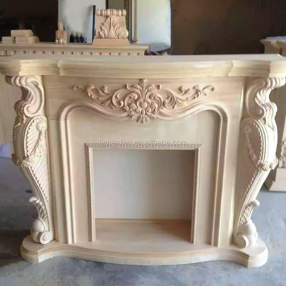 Carved fireplace wood frame