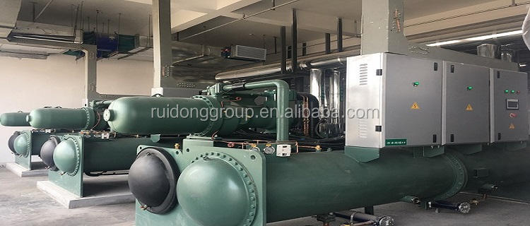 Building Material Shops [ Screw Chiller ] Chiller Water Cooled 200 Tons Water Cooled Screw Chiller Made By Real Factory
