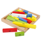 montessori teaching aids high quality intelligence memory matching game mini size colorful wooden counting sticks