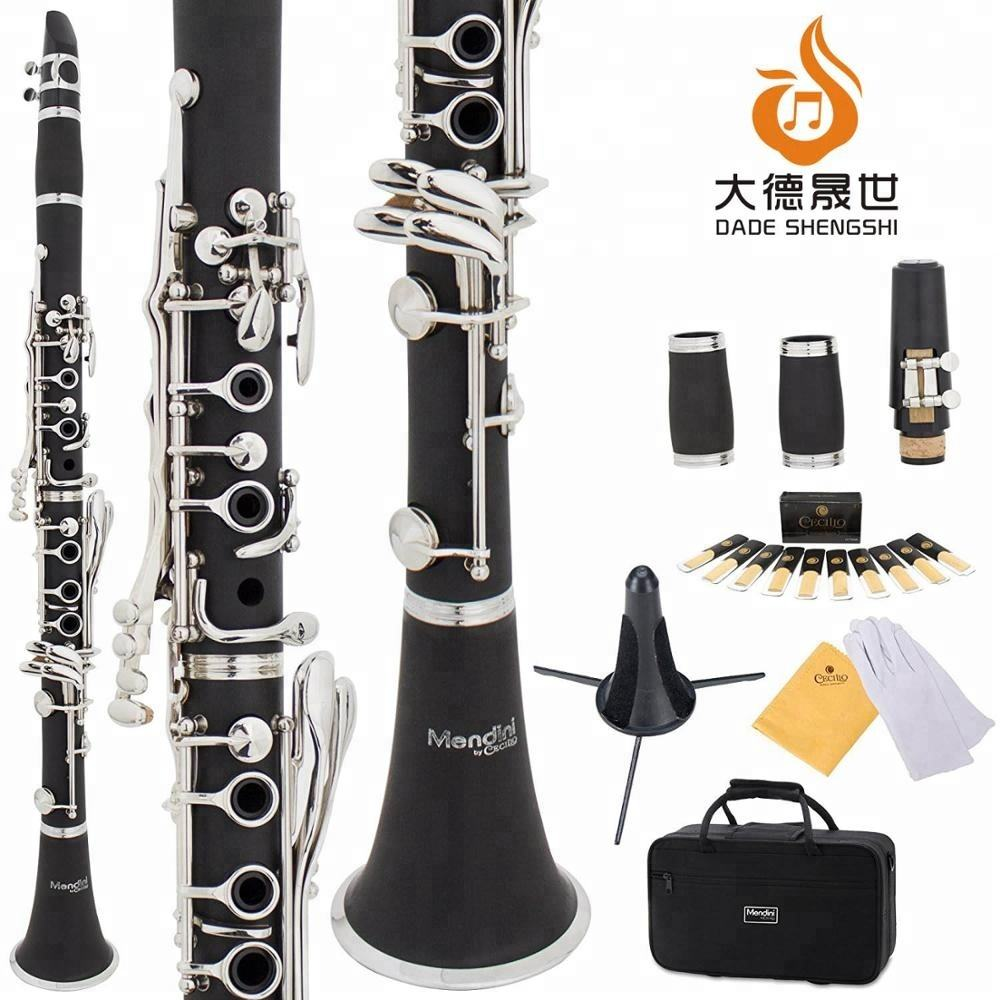 With 2 Barrels, Case, Stand, 10 Reeds, Mouthpiece and Warranty B Flat Clarinet