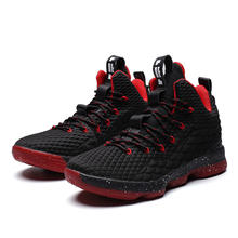 Lebron James 15 The Same Style Basketball Shoes for Boy Comfortable Cushioning Athletic Shoes Men Outdoor  Sport Basket Sneakers