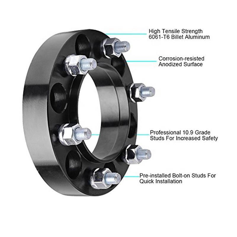 2 X Hubcentric 20mm amplia PCD Adaptadores de 5x112 a 5x100 57.1mm Negro Para VW Audi