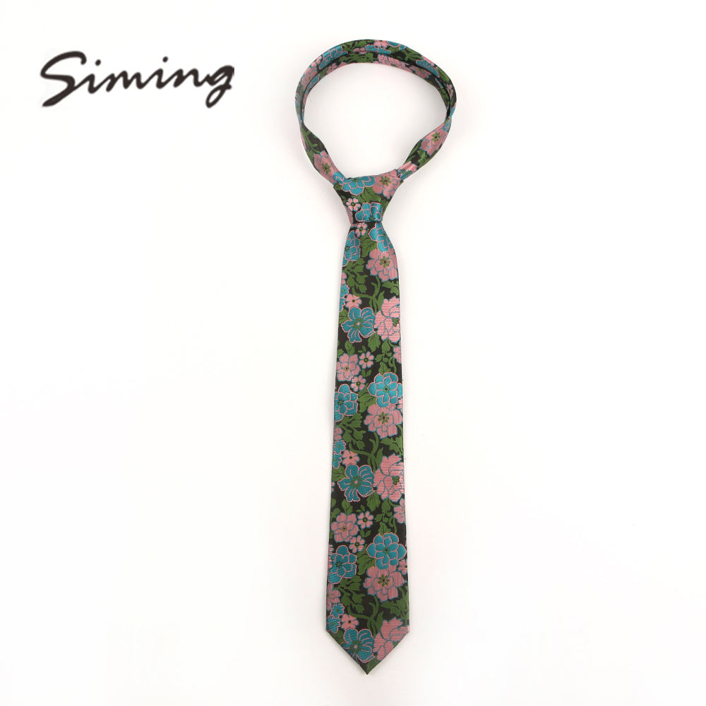 China manufacturer different kinds of polyester colorful beautiful flower design ties for men