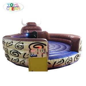 top fun! inflatable mechanical rodeo bull, riding mattress bull for sale DIA 5M