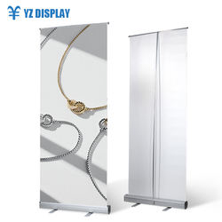 Aluminum Roll Up Standee Banner Flex Material Hand Held Led Light Box