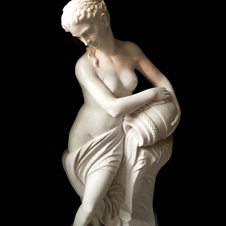 Life size famous marble venus with apple nude woman statue for sale mokk