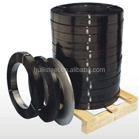 Q235 Q195 Black painted steel strip for packing wood