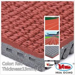 All Weather Rubber Prefabricated Polyurethane Running Track for Playground
