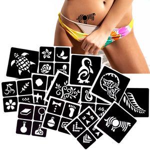G133-G173 India Henna Airbrush Glitter Temporary Tattoo Stencils