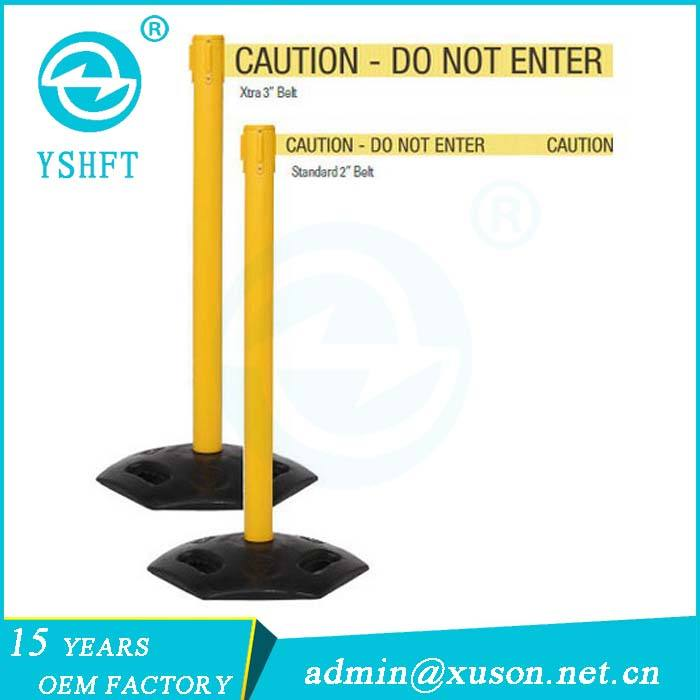 Heavy duty construction safety barriers plastic queue management equipment