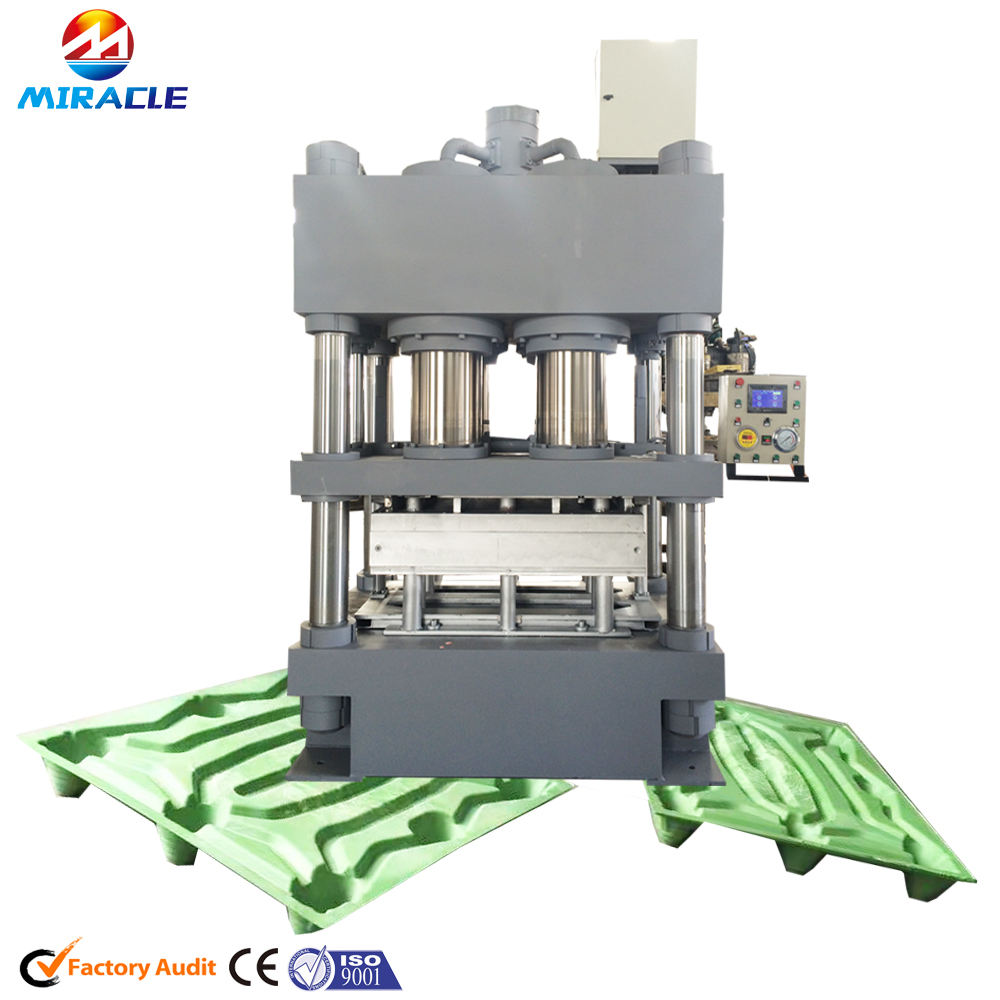 Dried wood shavings pallet process machine