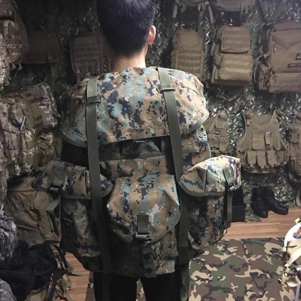 Fabriek groothandel metalen externe frame alice pack militaire rugzak, 50L staal externe frame tactical assault alice rugzak