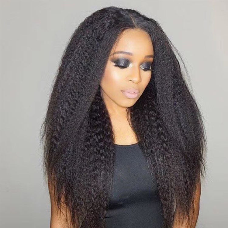 Top grade high quality human hair 360 lace wigs for short yaki straight unprocessed indian women hair full lace wig yaki