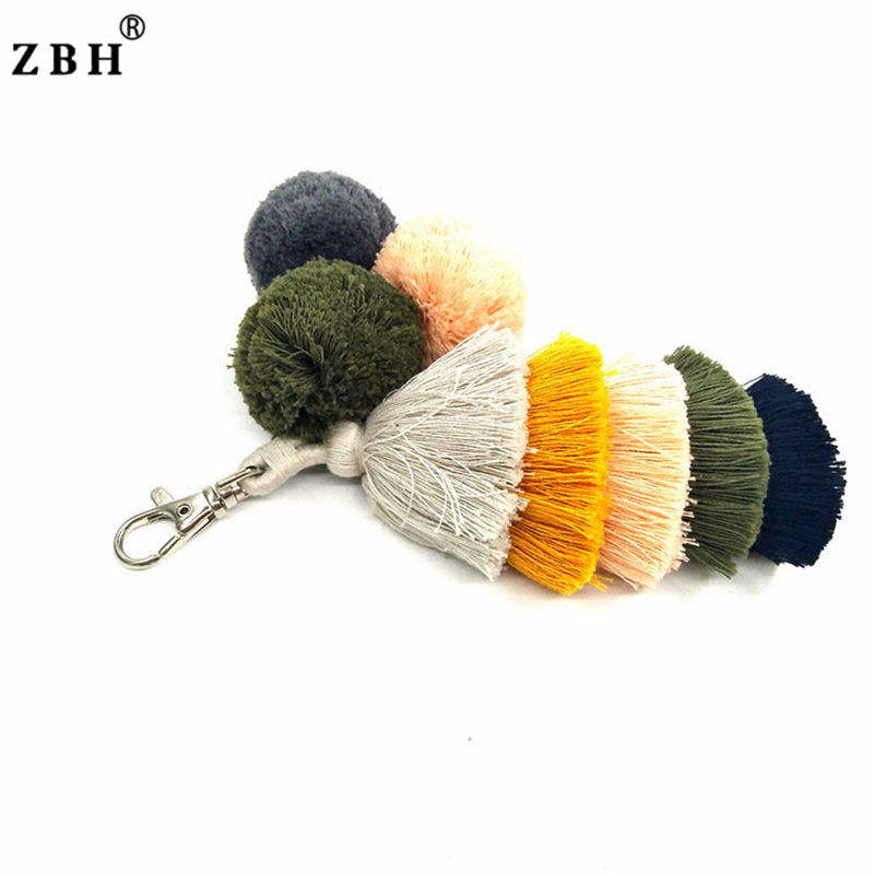Colored Decorative Crafts Fur Ball Fringe Tassel Gift
