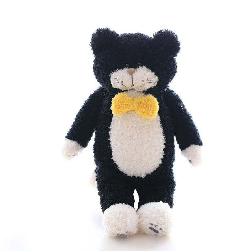 Nooer Kawaii Cute Japan Tiimo Black Cat Plush Toy Stuffed Cat &Animal Plush Doll