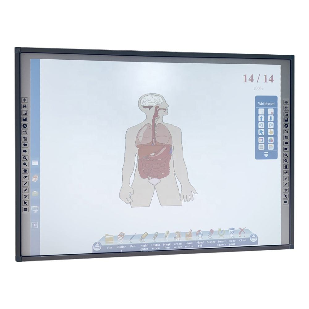 cheap MULTI TOUCH Interactive smart whiteboard, school board, ip board interactive whiteboard for sale with ceramic surface