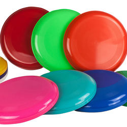 9-Inch latex-free plastic Dome profile Discs Plastic Flying Discs (Set of 6Pack) for outdoor use