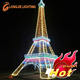 Eiffel tower sculpture light 3d model light outdoor decoration for holidays