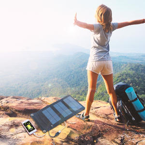 Portable 5 W USB Solar Charger untuk Ponsel