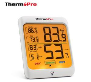 Thermopro TP53 Digital Indoor Thermometer Hygrometer Weather Station with Touch Backlight