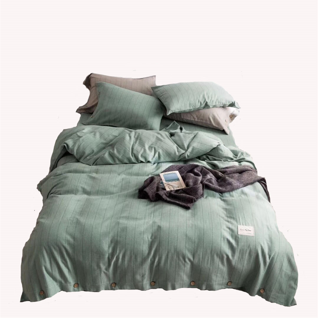 Bamboo green duvet cover set